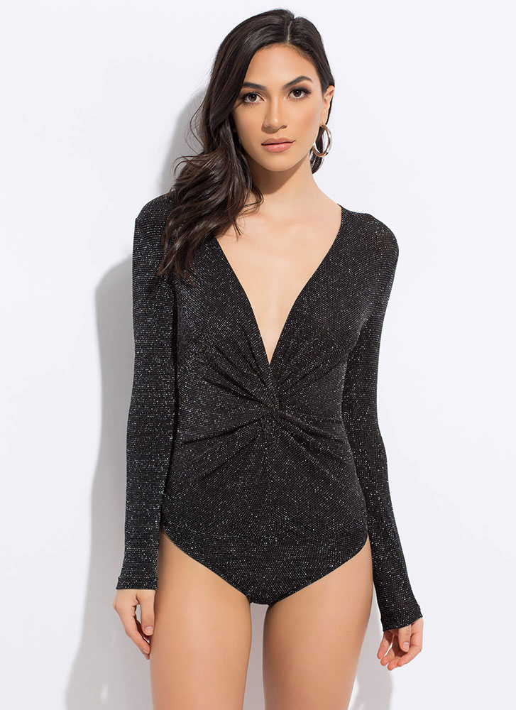 Knot Of This Galaxy Sparkly Bodysuit BLACKSLVR