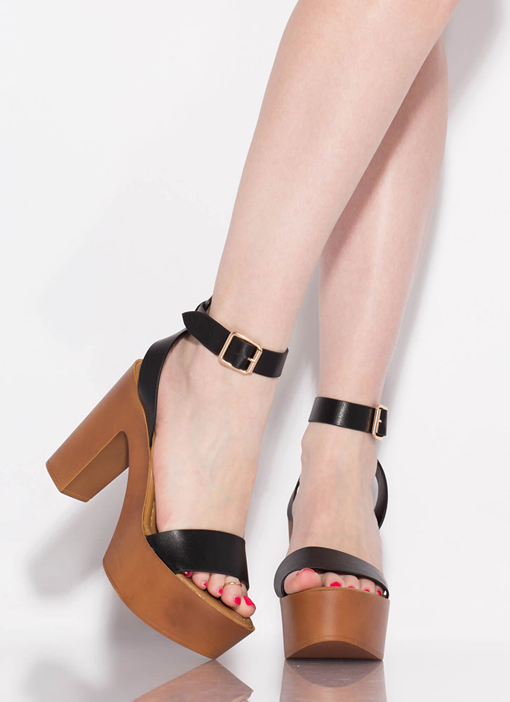 Boost Of Confidence Chunky Platforms BLACK