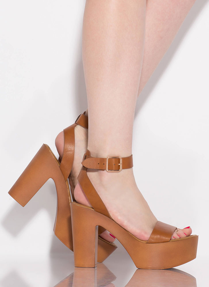 Boost Of Confidence Chunky Platforms TAN