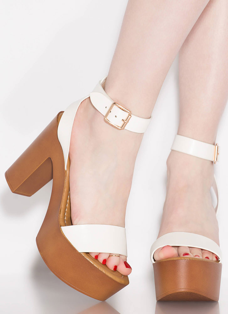 Boost Of Confidence Chunky Platforms WHITE