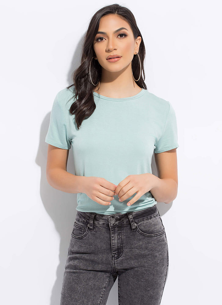 I Can't Live Without You Basic Tee MINT