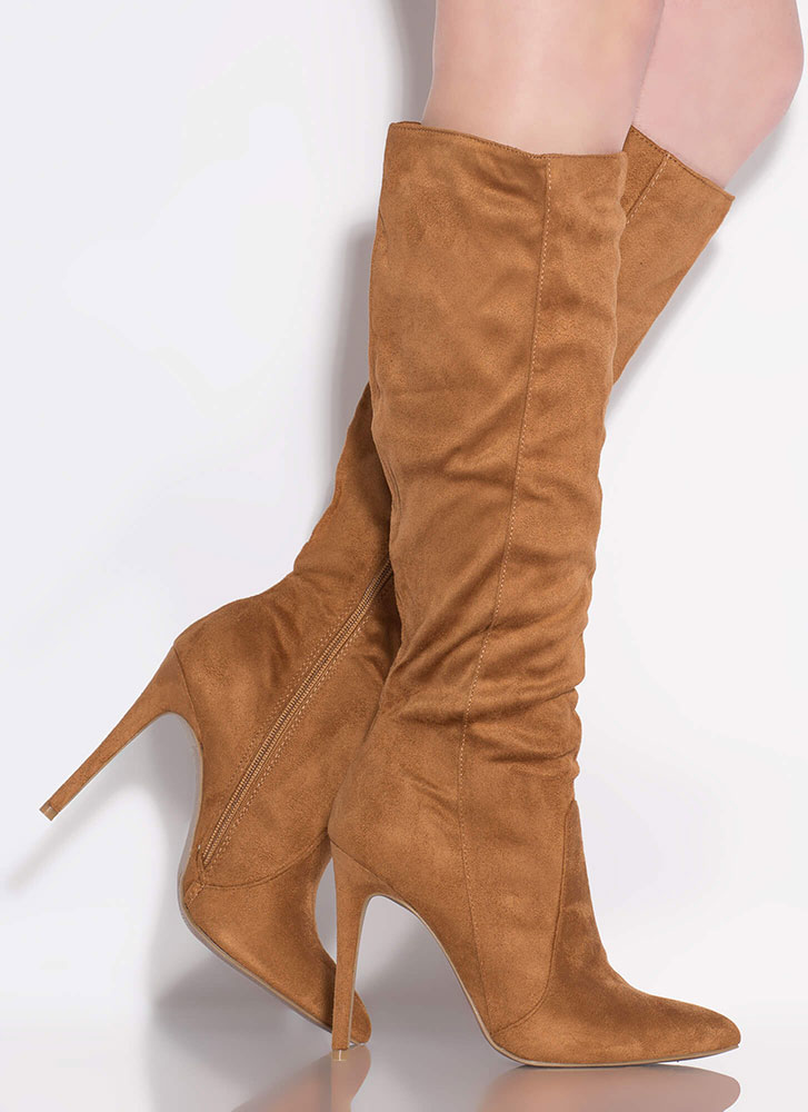 fresh styles biggest discount get new Going Going Gone Pointy Knee-High Boots