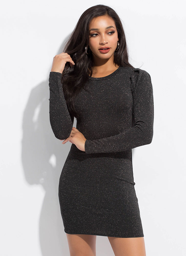 Out Of This Galaxy Sparkly Minidress BLACK