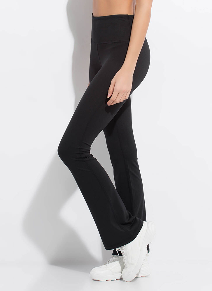 Gym Days Flared Athletic Pants BLACK