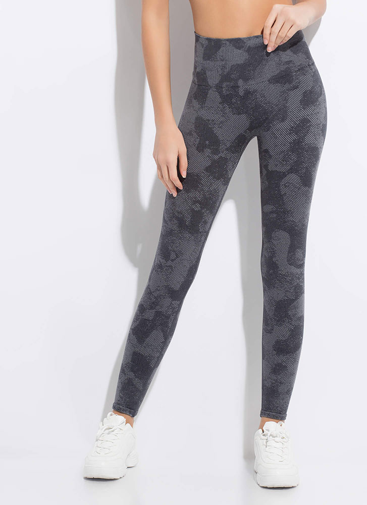 Running Time Abstract Print Leggings CAMO