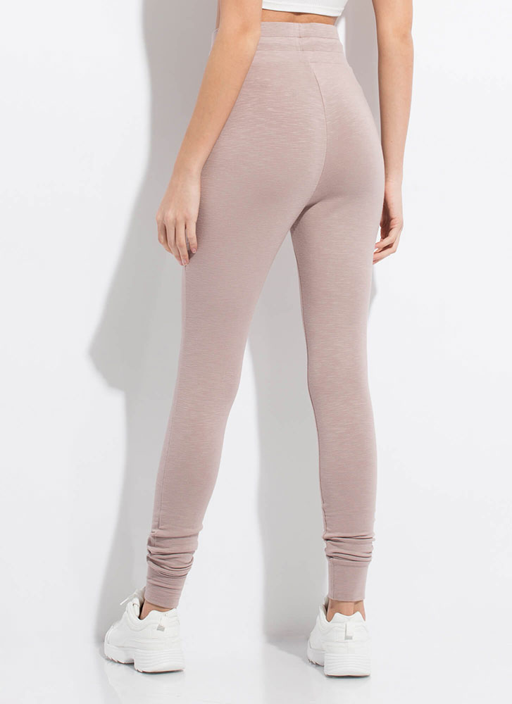 Easy Does It Sweatpant Joggers ALMOND