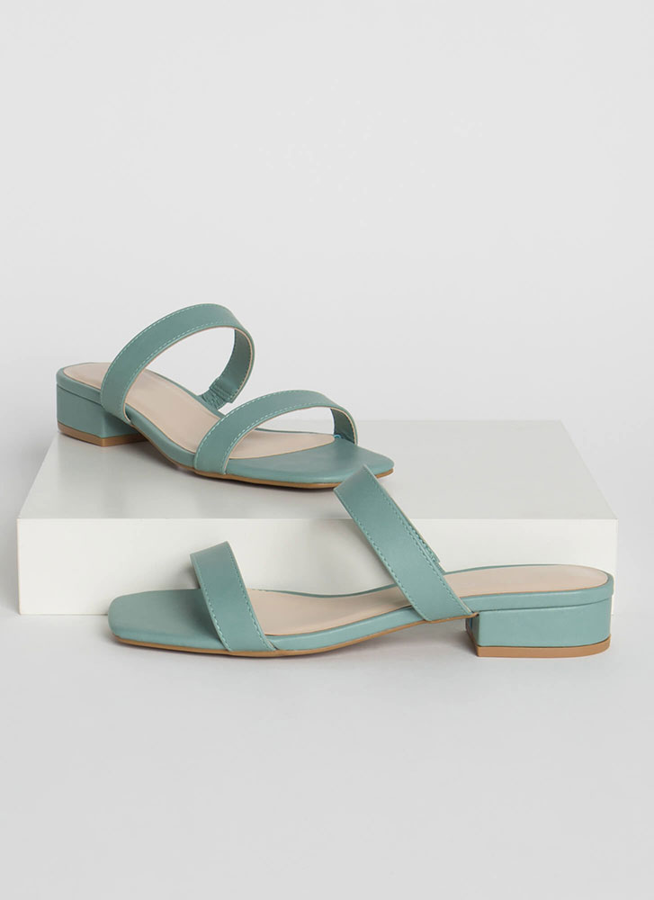 Strappy Times Faux Leather Sandals SAGE