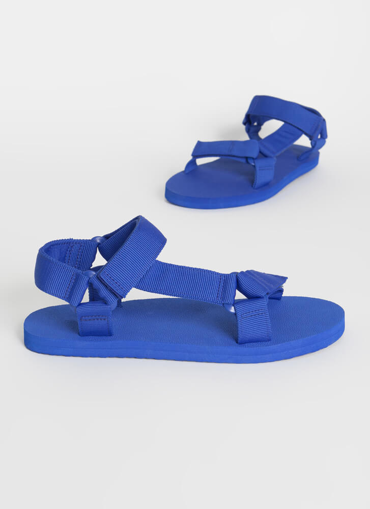 Harness My Energy Strappy Sporty Sandals BLUE