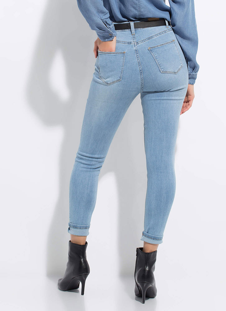 Snag These High-Waisted Skinny Jeans LTBLUE