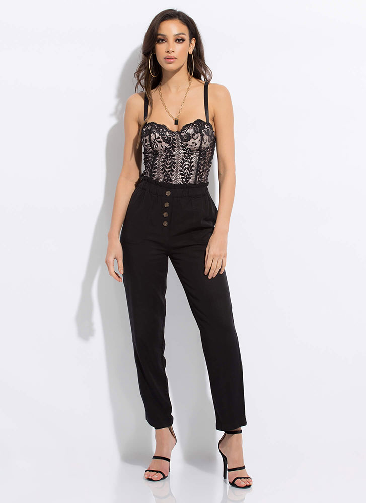 Put Me In My Lace Bustier Tank Top BLACKBLUSH