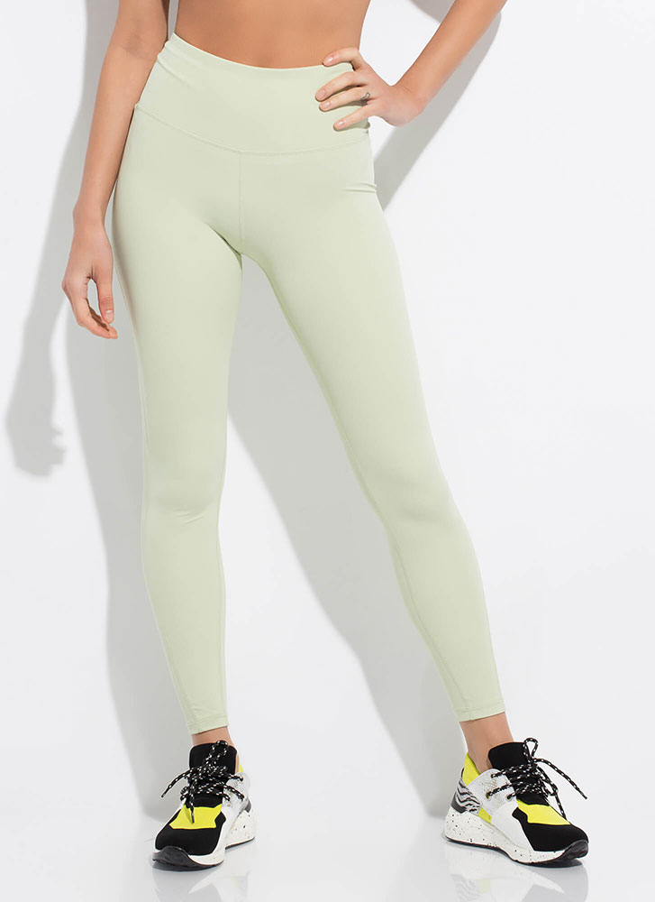 I'm On My Way Pocketed Leggings MINT