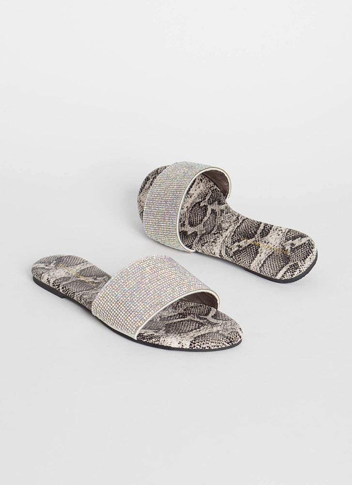 Treasure Jeweled Snake Slide Sandals SNAKE