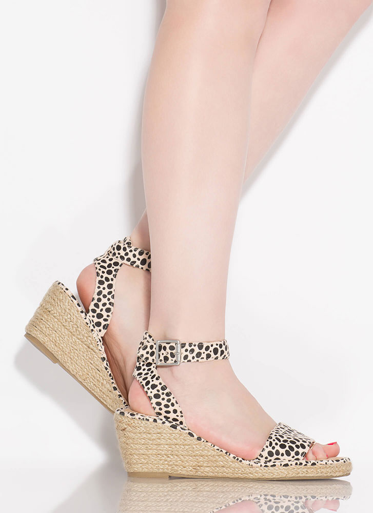 Take A Vacation Espadrille Wedges LEOPARD