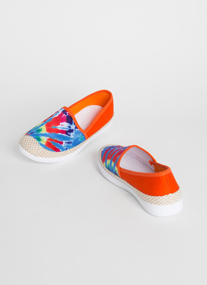 Modern Moccasin Tie-Dye Sneakers ORANGE