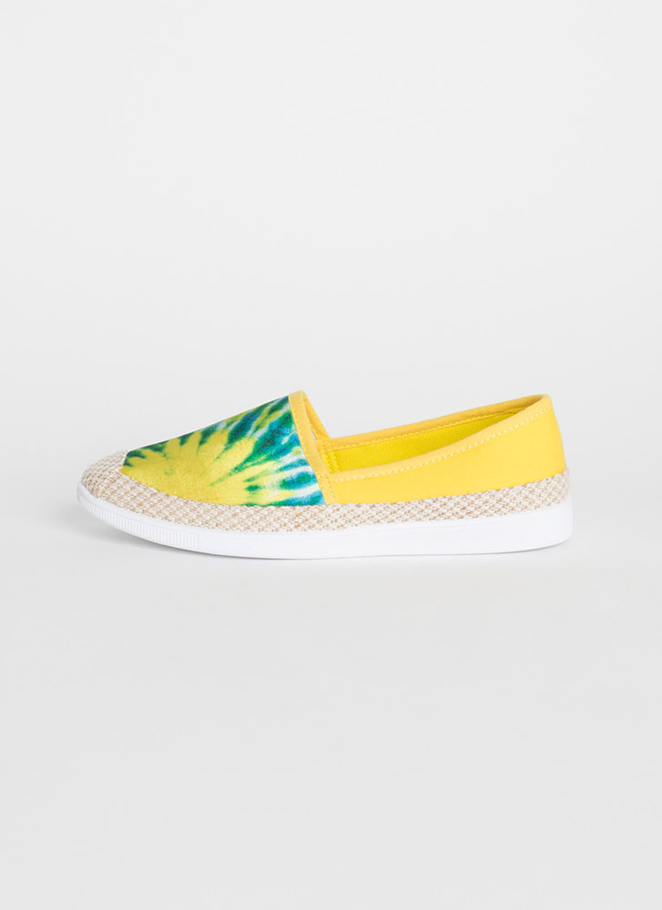 Modern Moccasin Tie-Dye Sneakers YELLOW