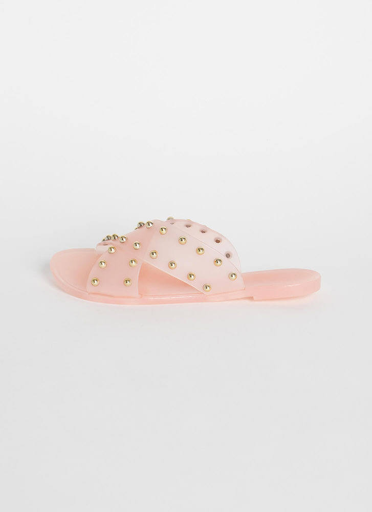 Dome Sweet Dome Studded Slide Sandals NUDE (Final Sale)