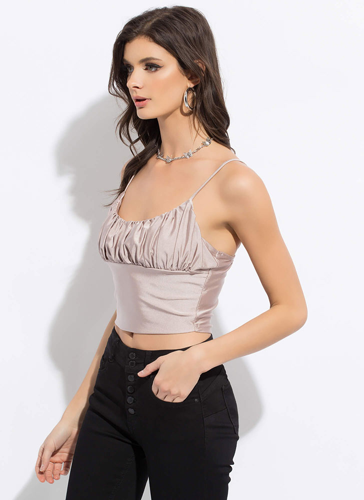 Glamorous Gathering Cropped Tank Top BLUSH