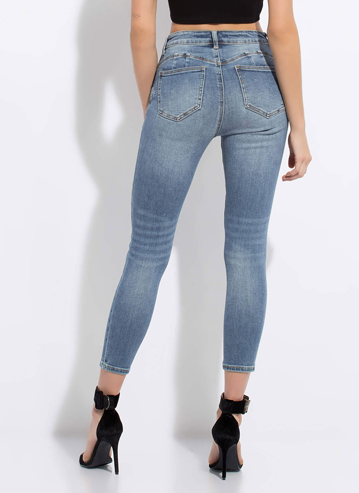 Baby Got Jeans Butt-Lift Skinny Jeans MEDBLUE (Final Sale)