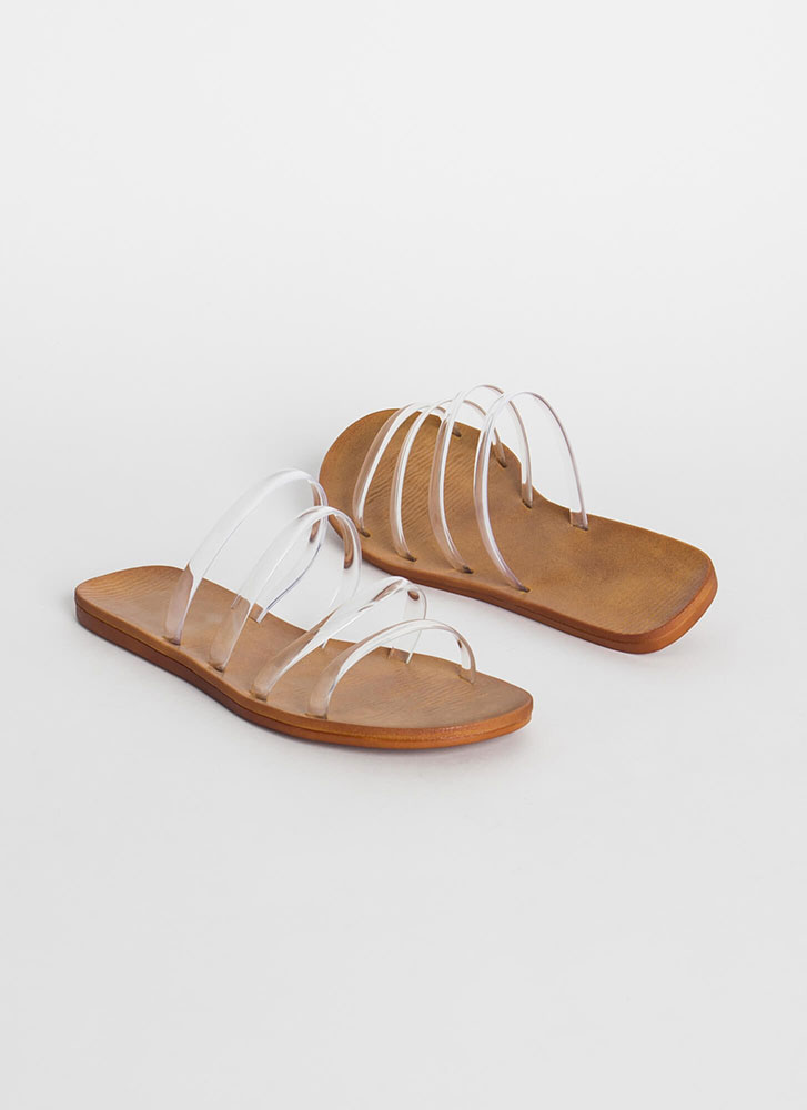 Pool Party Jelly Strap Sandals CLEAR