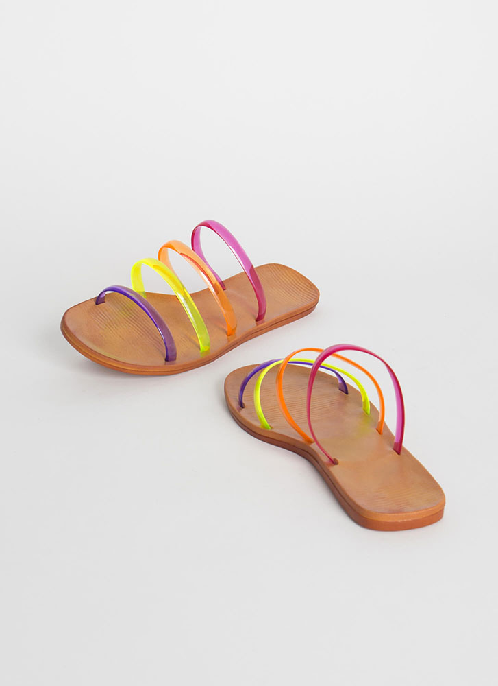 Pool Party Jelly Strap Sandals MULTI
