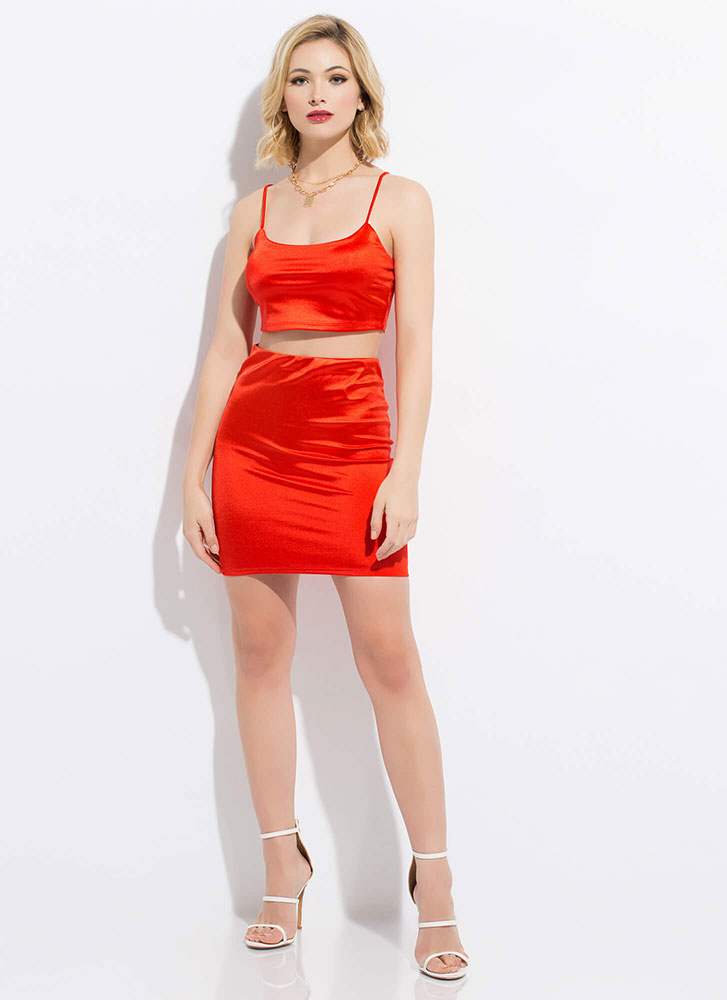 Simply Irresistible Top And Skirt Set RED