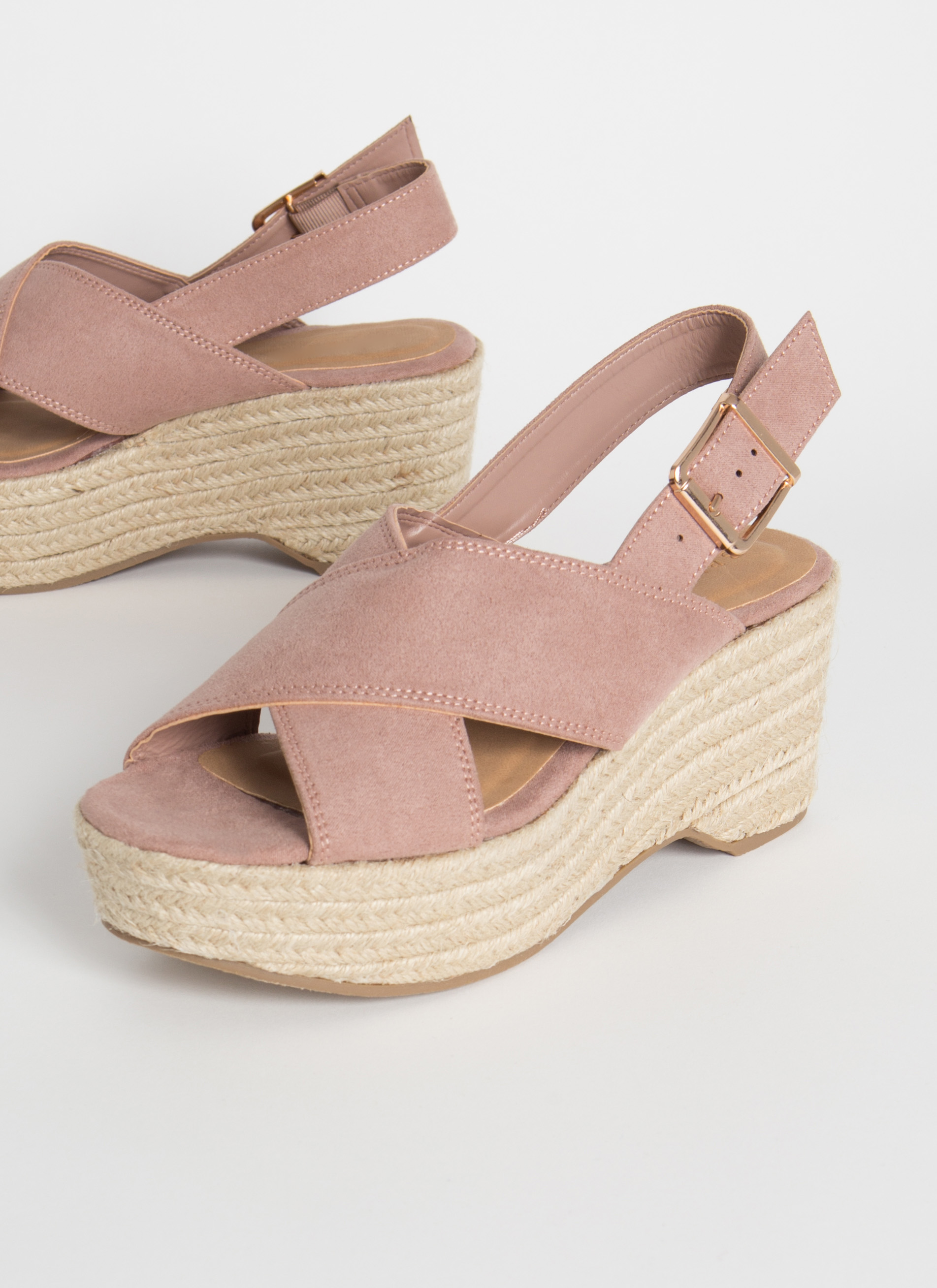 X-Scape To Paradise Braided Wedges DESERTROSE