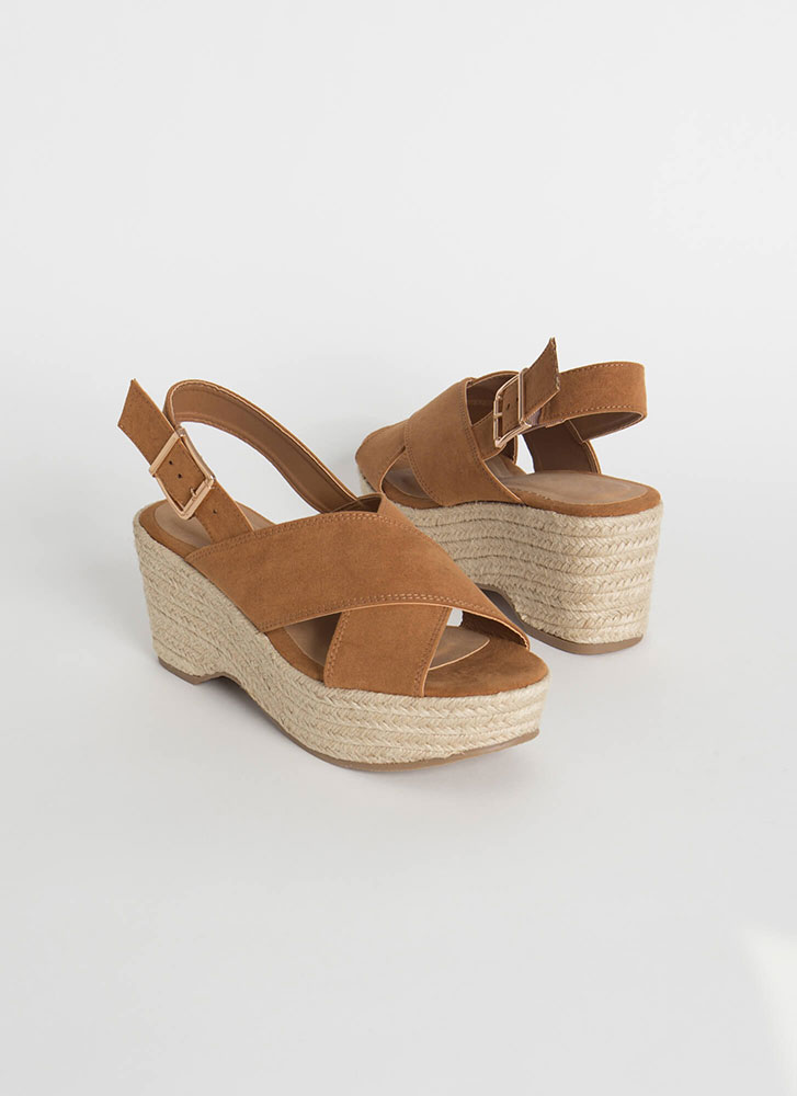 X-Scape To Paradise Braided Wedges TAN