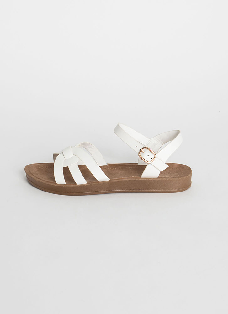 Sunday At The Park Ankle Strap Sandals WHITE