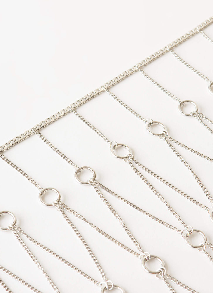 Add To Basket Ringed Body Chain SILVER
