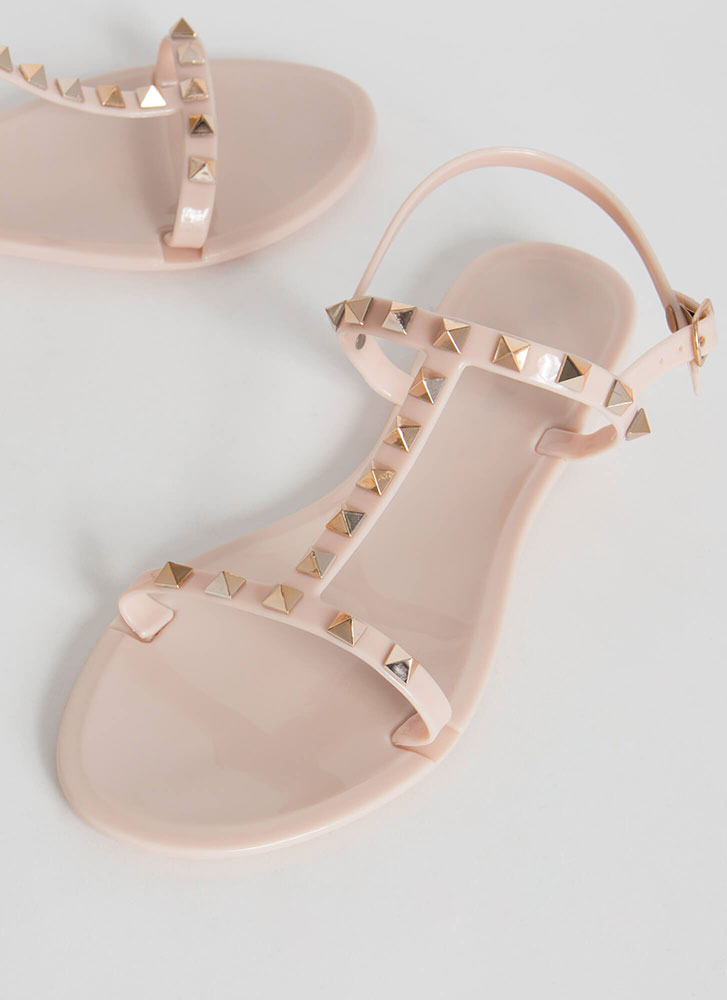 Extra Edge Strappy Studded Sandals NUDE