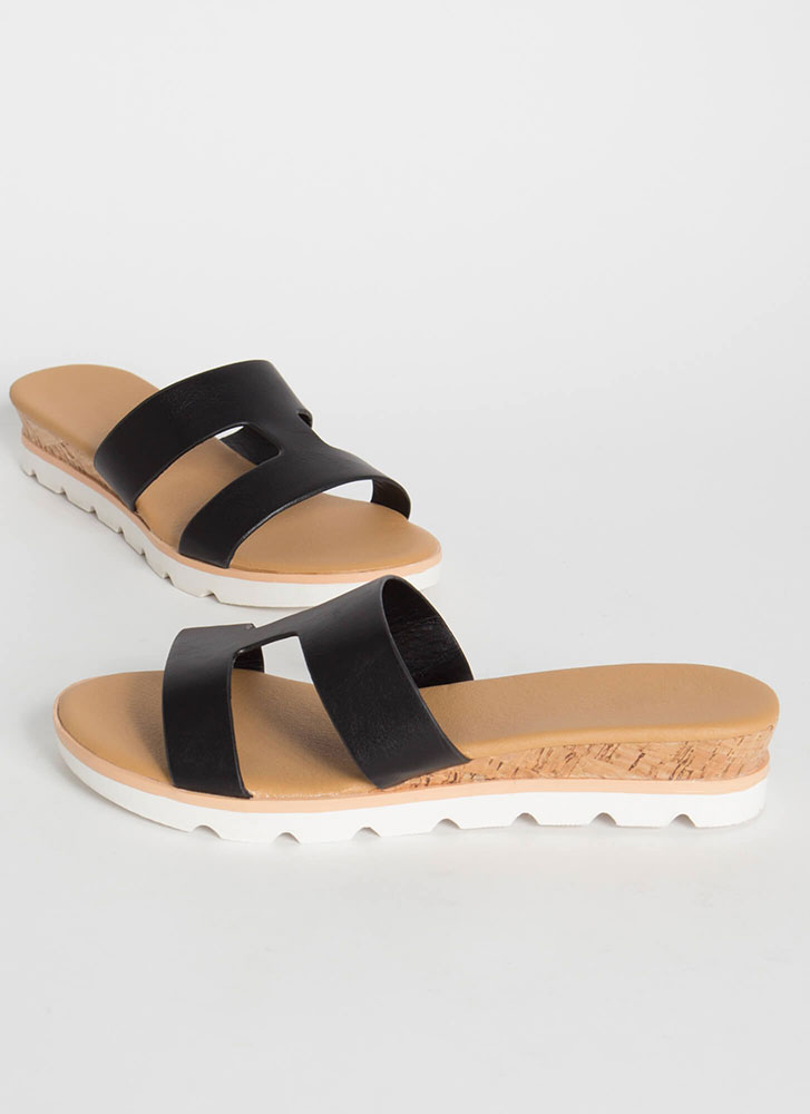Cut-Out For The Cabana Platform Slides BLACK