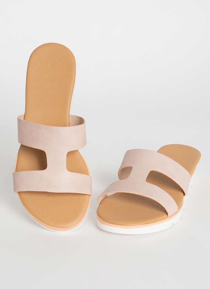 Cut-Out For The Cabana Platform Slides BLUSH
