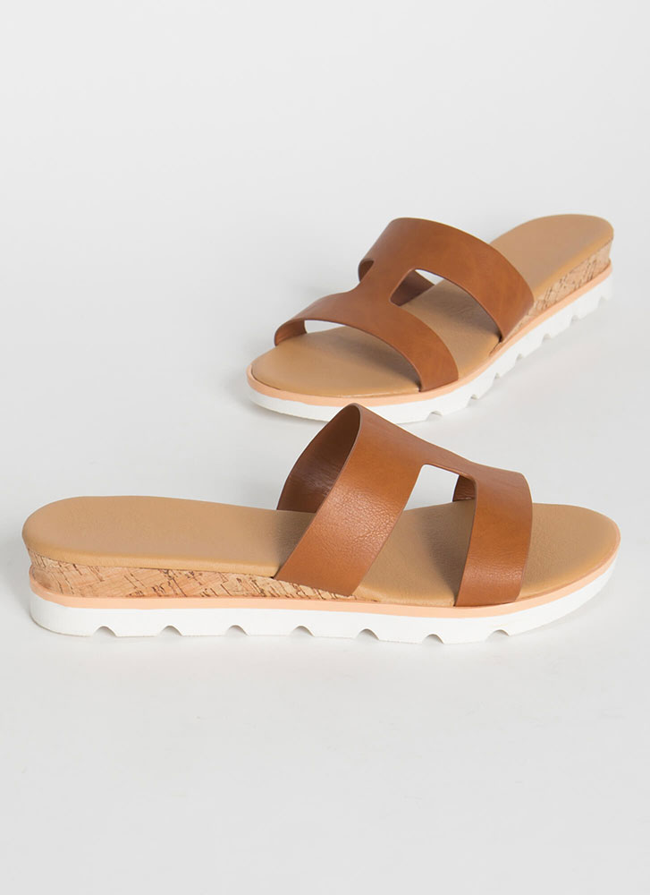 Cut-Out For The Cabana Platform Slides TAN