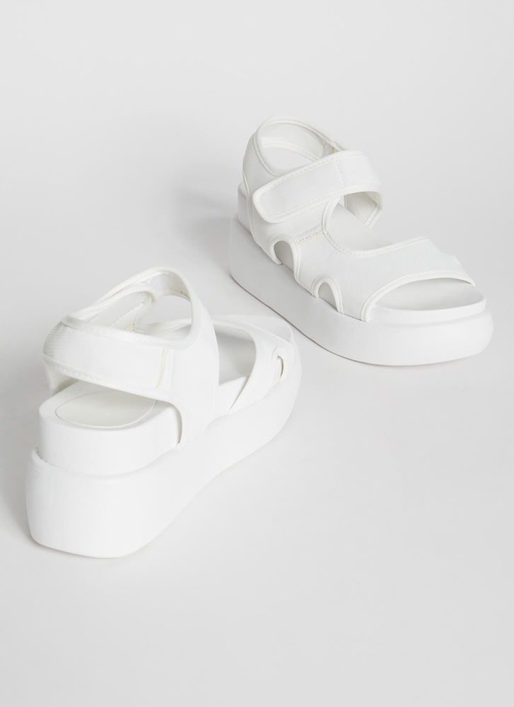 High Spirits Cut-Out Wedge Sandals WHITE