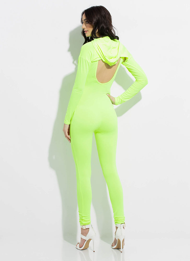In The Hood Cut-Out 2-Piece Jumpsuit NYELLOW