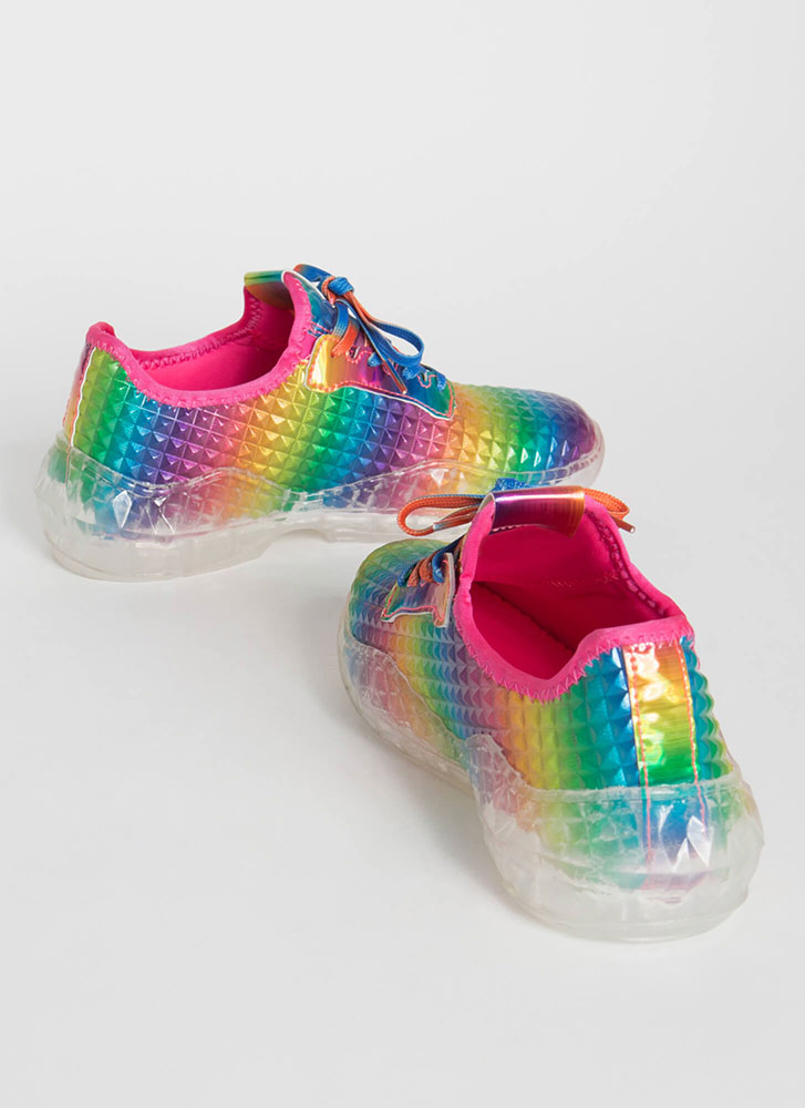 New Dimension Tiled Rainbow Sneakers RAINBOW