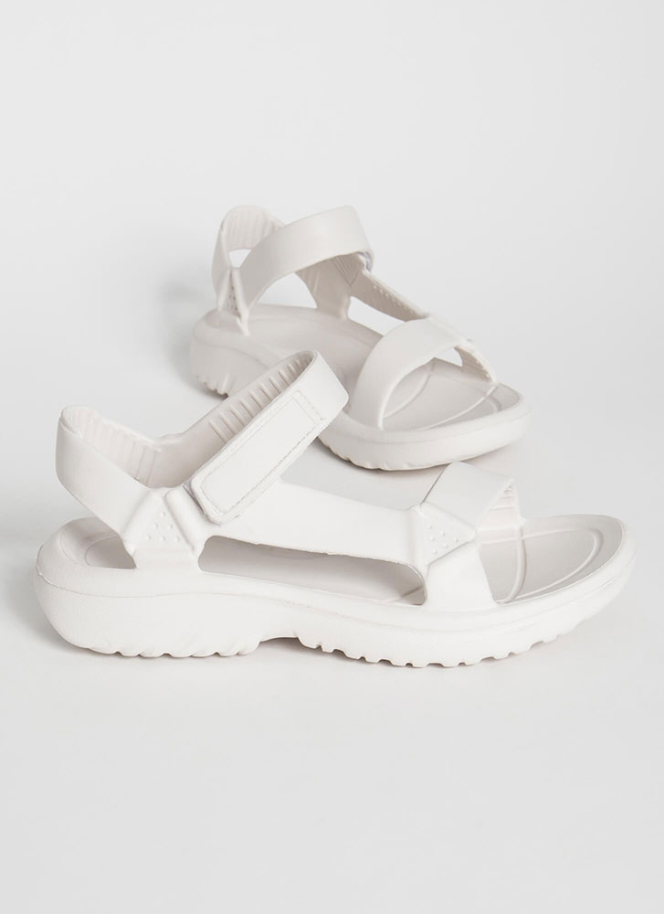 Weekend Trek Faux Harness Sandals OFFWHITE