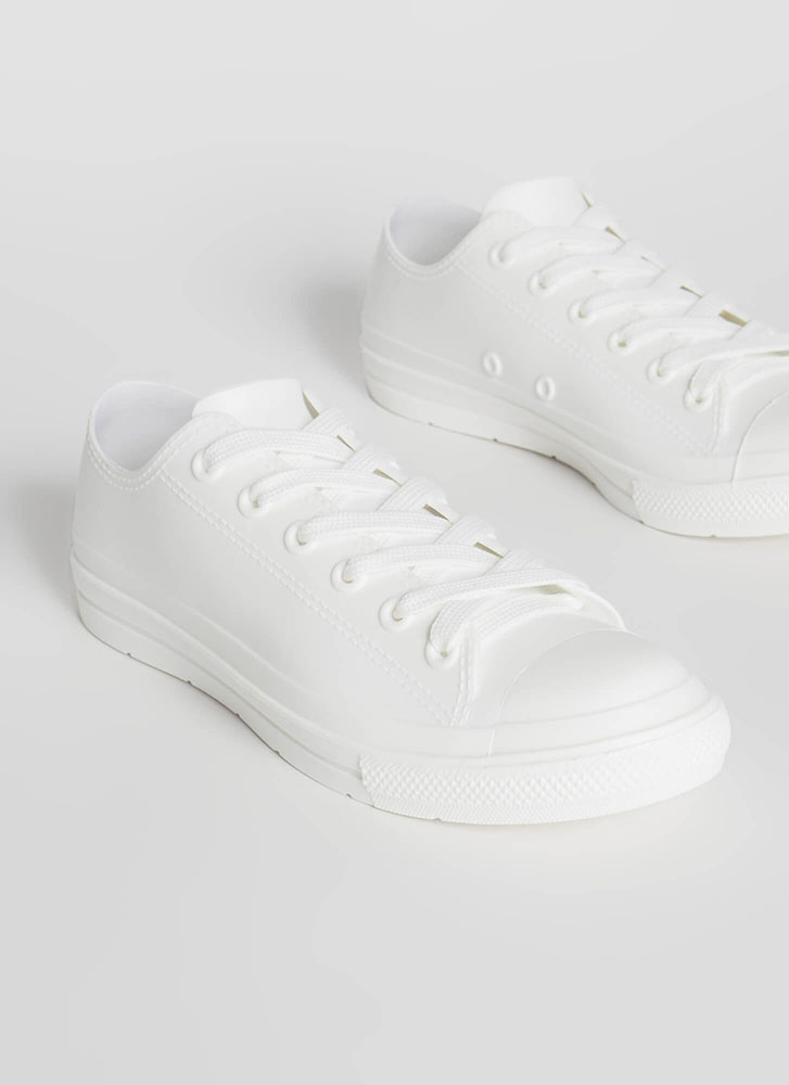 I'm So Jelly Solid PVC Sneakers WHITE