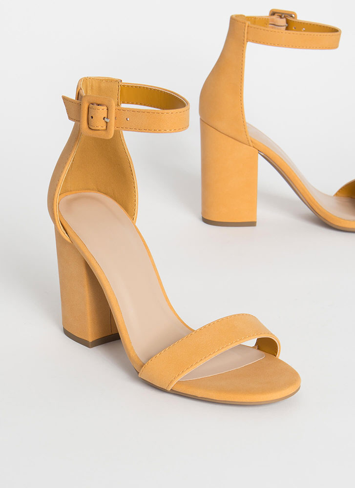 Just The Thing Chunky Ankle Strap Heels MANGO