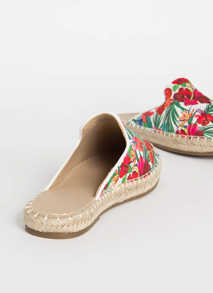 Vacation Days Braided Floral Sandals FLORAL