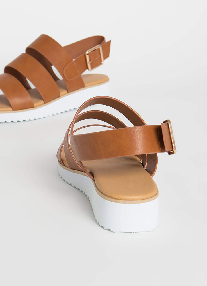 Wherever Whenever Strappy Sandals TAN
