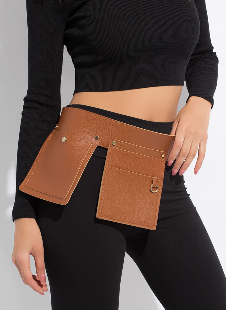 Armed And Ready Pocketed Tool Belt CAMEL