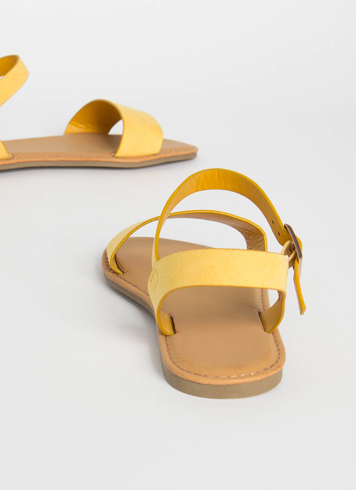 Sunny Forecast Faux Suede Sandals AMBER