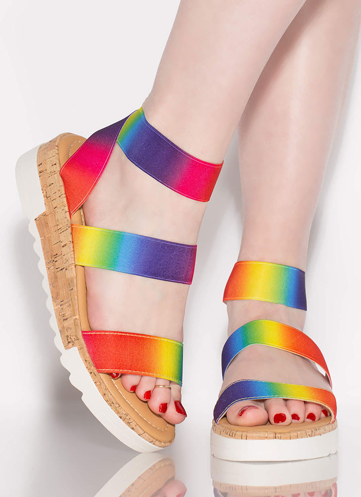 You're Gonna Be Band Rainbow Sandals RAINBOW