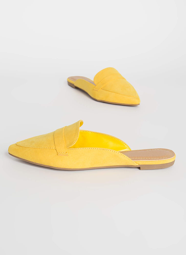 Business Or Pleasure Strapped Mule Flats AMBER
