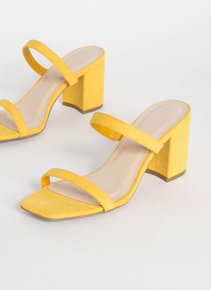 Forever Yours Strapped Block Heels AMBER