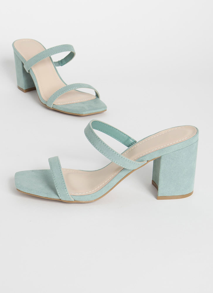 Forever Yours Strapped Block Heels SAGE
