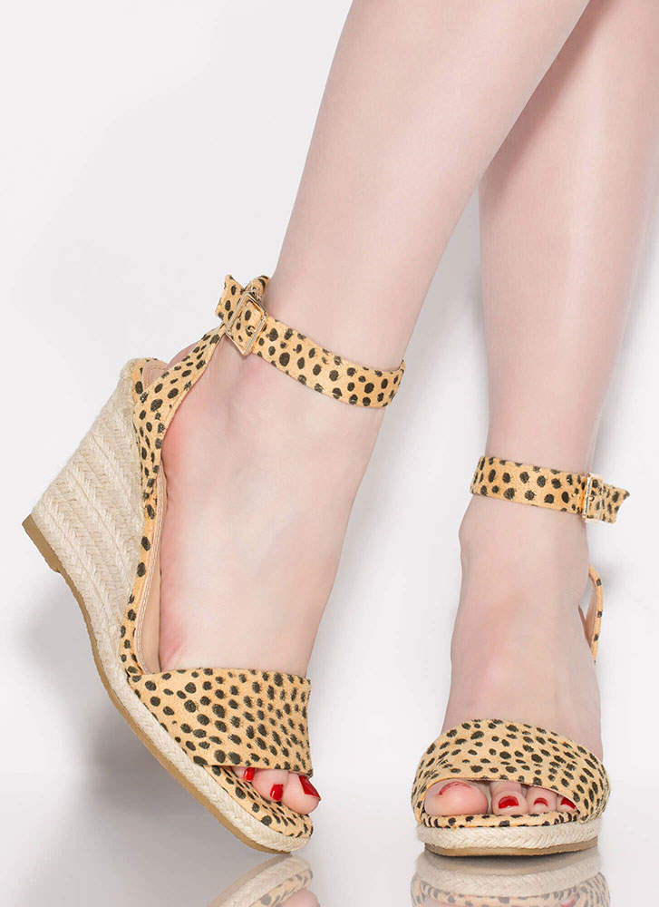 Vacation Home Espadrille Wedges LEOPARD