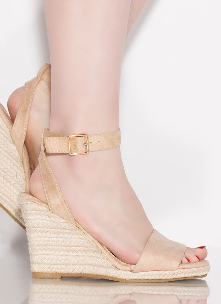 Vacation Home Espadrille Wedges NATURAL