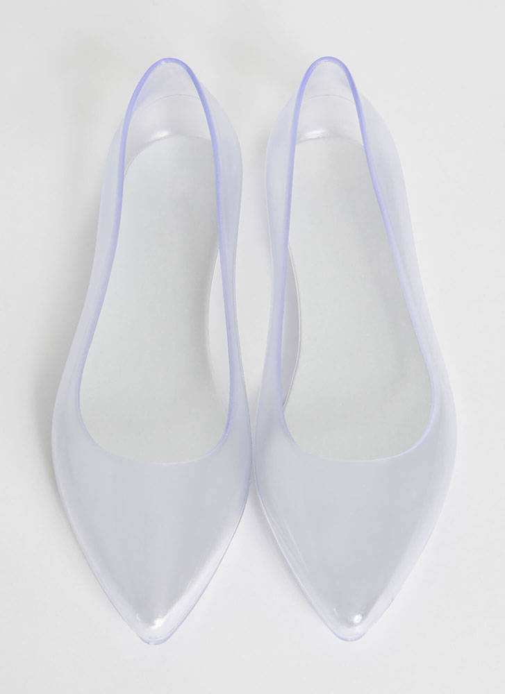 Cinderella Story Clear PVC Ballet Flats CLEAR